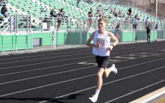 Junior Nicholas Emmert won the Group 4A State Championships 1600 Meter run. Pictured here during regional competition.