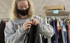 Senior Jillian Smith interns with the Community Closet. Stop by Monday-Thursday 9 a.m.-3 p.m. to donate or shop.