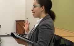Junior Olivia Thompson competes in Prose Interpretation.