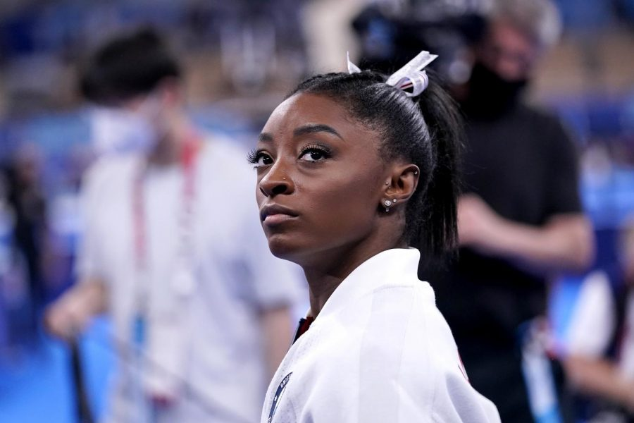 Simone+Biles+waiting+to+perform+at+the+2021+Tokyo+Summer+Olympics